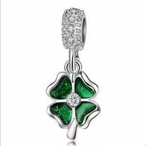 Jewelry - NEW•Silver 925 Green Shamrock DIY charm
